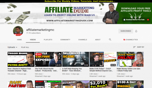 My Top 10 Affiliate Marketing YouTubers With High Content Value