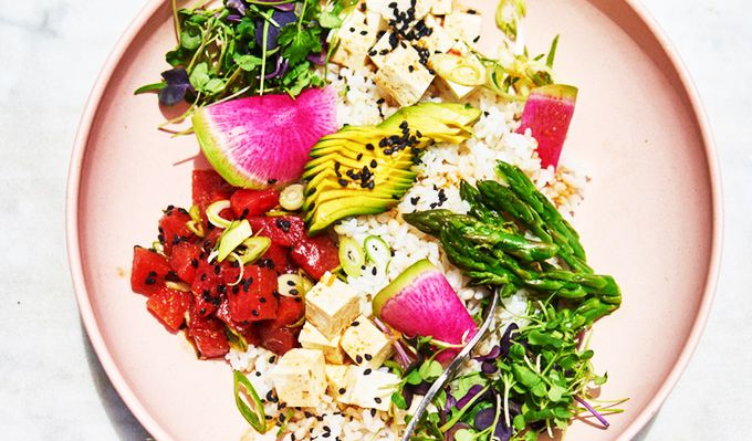 vegetarian poke bowl recipe